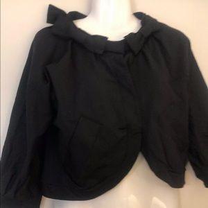 Marc By Marc Jacobs S crop black jacket blazer bow